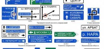 Приложение 1: Информационные дорожные знаки