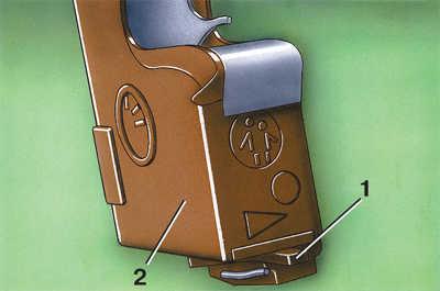 блокировка внутренней ручки замка задней двери audi 100