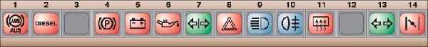 блок контрольных ламп комбинации приборов audi 100