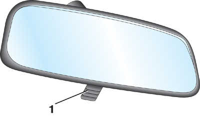 внутреннее зеркало заднего вида audi 100