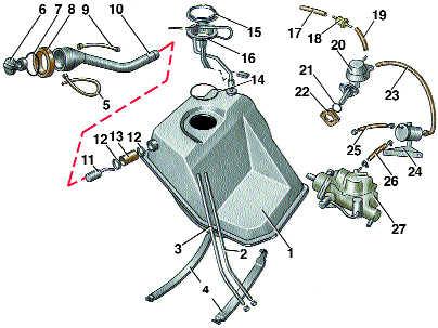 снятие и установка топливного насоса audi 100
