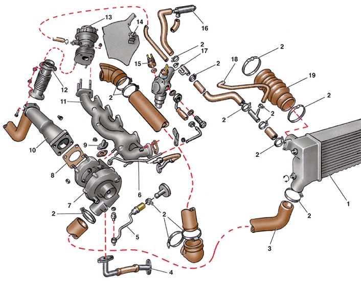 снятие и установка турбокомпрессора audi 100