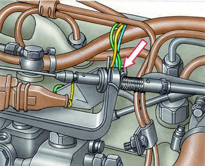 регулировка троса подачи топлива audi 100