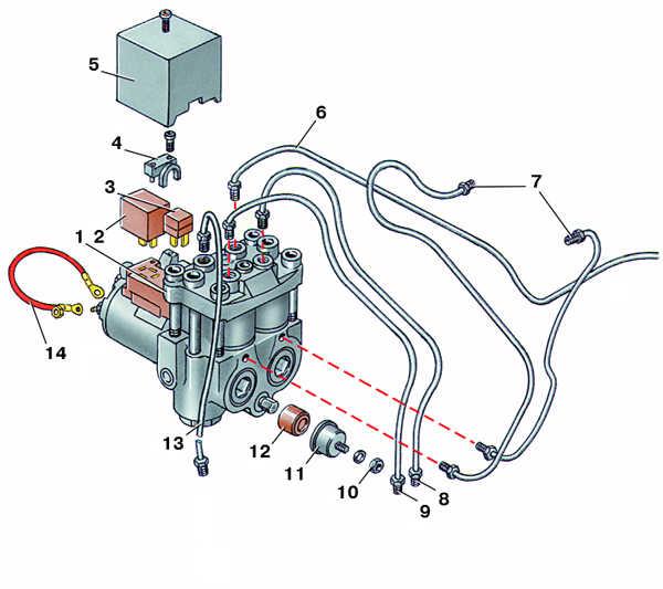 антиблокировочная система тормозов (абс) audi 100