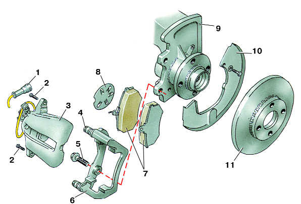 тормозной механизм переднего колеса марки girling audi 100