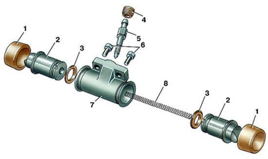 колесный тормозной цилиндр audi 100