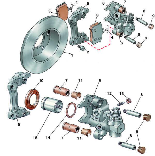 дисковый тормозной механизм заднего колеса audi 100