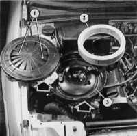 снятие сменного элемента воздушного фильтра audi 80