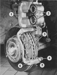 замена колодок дисковых тормозных механизмов audi 80