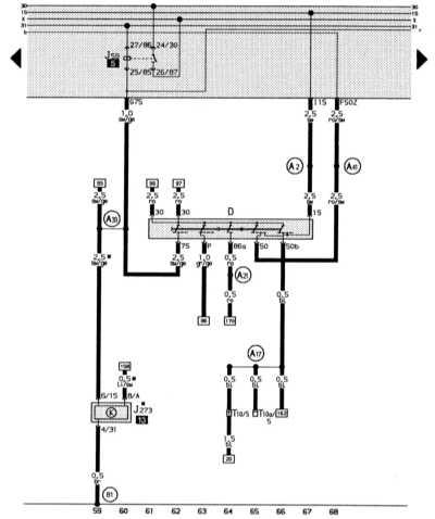 выключатель зажигания и стартера, разгрузочное реле контакта х, демпфирование топливного бака audi 80