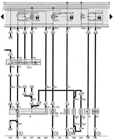 система стеклоочистителя/омывания, система очистки фар, обогреваемые форсунки стеклоомывателя, звуковой сигнал audi 80
