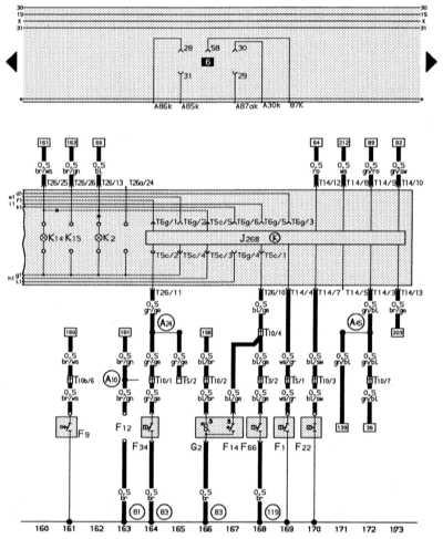 комбинация приборов, система минипроверки (mini-check-system), контроль давления масла, контроль охлаждающей жидкости audi 80