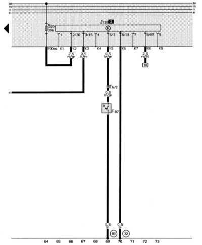 включение вентилятора системы охлаждения после прекращения работы двигателя audi 80
