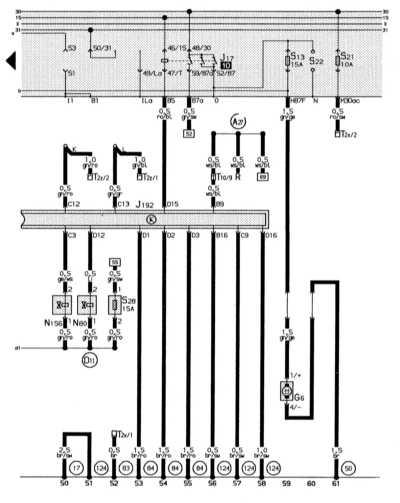 электронная система впрыска, реле топливного насоса, топливный насос audi 80
