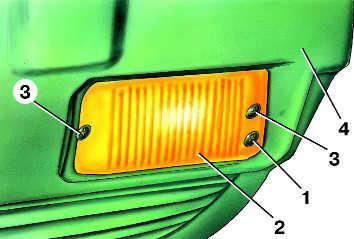 замена лампы противотуманной фары audi 100