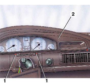снятие и установка комбинации приборов audi 100