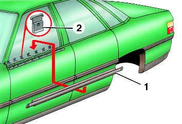 замена уплотнителя стекла двери audi 100