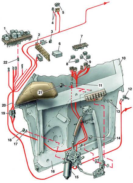 снятие и установка стеклоподъемника с электроприводом audi 100