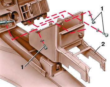 снятие и установка центральной консоли audi 100