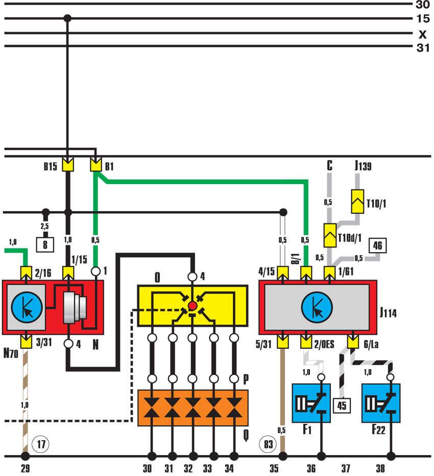 система зажигания, устройство контроля давления масла audi 100