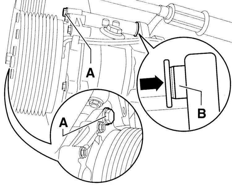 снятие и установка компрессора audi a3
