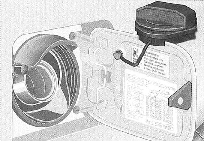 заправка топливом и аварийное отпирание крышки заправочного лючка audi a3