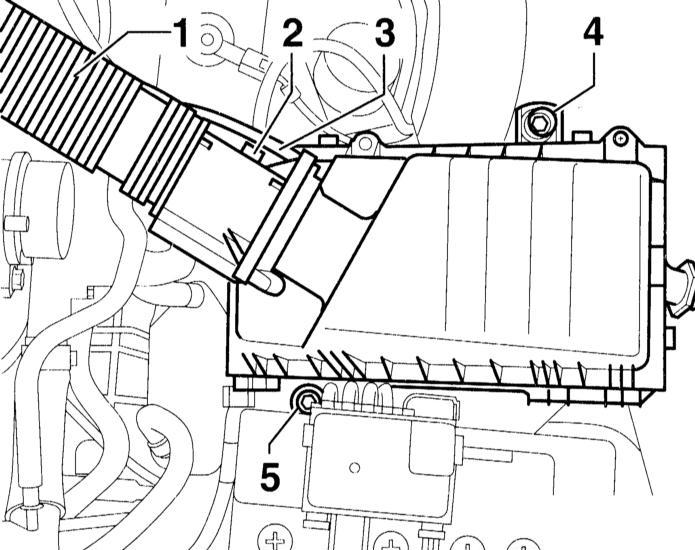снятие и установка корпуса воздушного фильтра audi a3