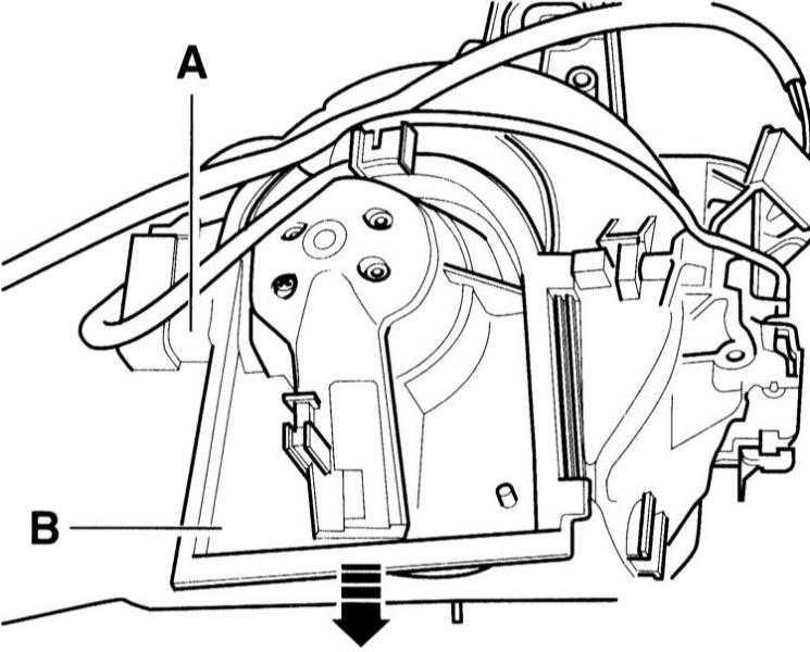 снятие и установка вентилятора свежего воздуха audi a3