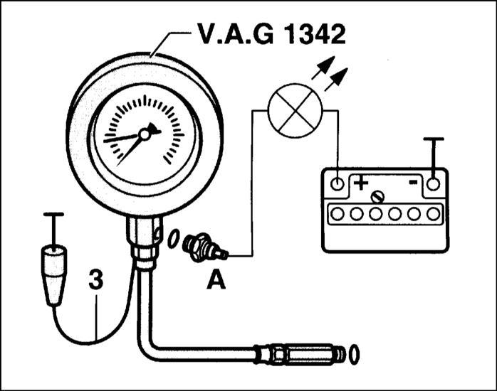проверка давления масла и датчика указателя давления масла audi a3